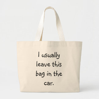 Forgetful Shopper 5 Jumbo Tote Bag