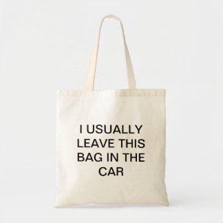 Forgetful Shopper Budget Tote Bag