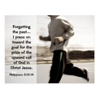 Forgetting the past I press on, Philippians 3:14 Postcard