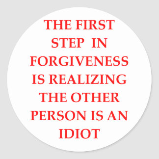 FORGIVE ROUND STICKER