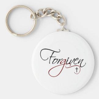 Forgiven Basic Round Button Key Ring