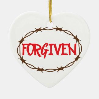 Forgiven Ceramic Heart Decoration