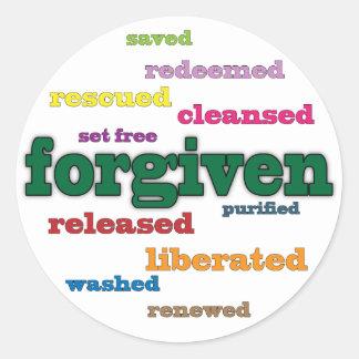 Forgiven Christian stickers (white)