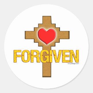 Forgiven Classic Round Sticker