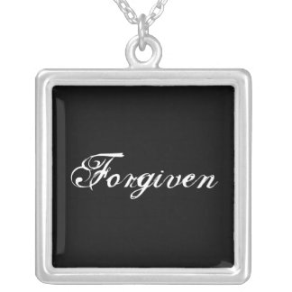 FORGIVEN SILVER PLATED NECKLACE