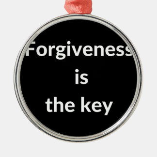 Forgiveness is the key metal ornament