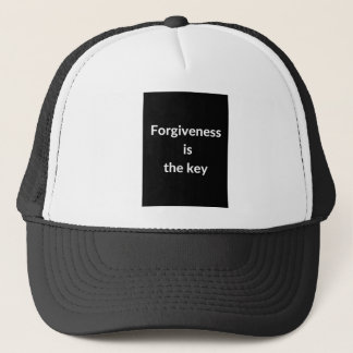 Forgiveness is the key trucker hat