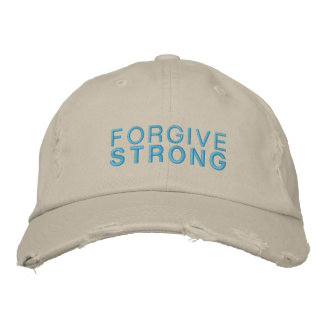 Forgivestrong Stone Distressed Hat Embroidered Baseball Cap