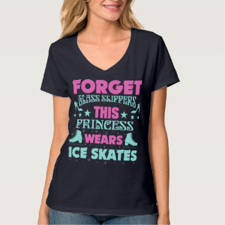 Forgot glass slippers, this Princess wears Ice Ska T-Shirt