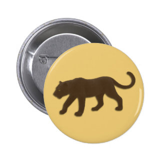 Forida Panther on Gold 6 Cm Round Badge