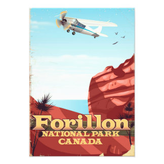 Forillon National Park, Canada travel poster