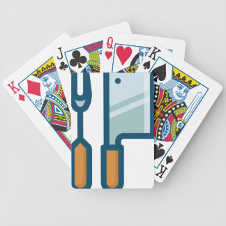 Fork and Cleaver Bicycle Playing Cards