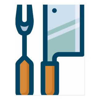 Fork and Cleaver Postcard