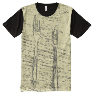 fork and knife All-Over print T-Shirt