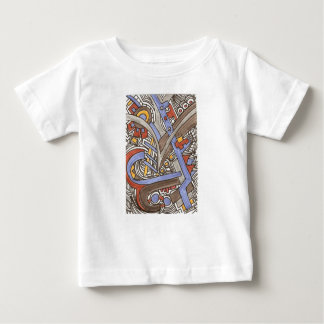 Fork In The Road-Abstract Geometric Ink Drawing Baby T-Shirt