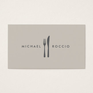 Fork & Knife Logo for Chef, Foodie, Restaurant Business Card