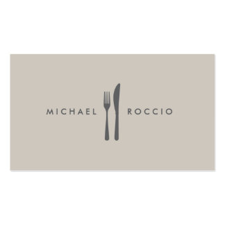 Fork Knife Logo for Chef Foodie Restaurant Business Card Templates