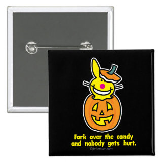 Fork Over The Candy 15 Cm Square Badge
