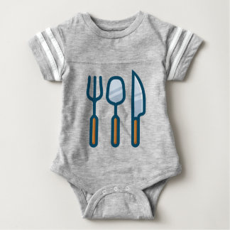 Fork Spoon and Knife Baby Bodysuit
