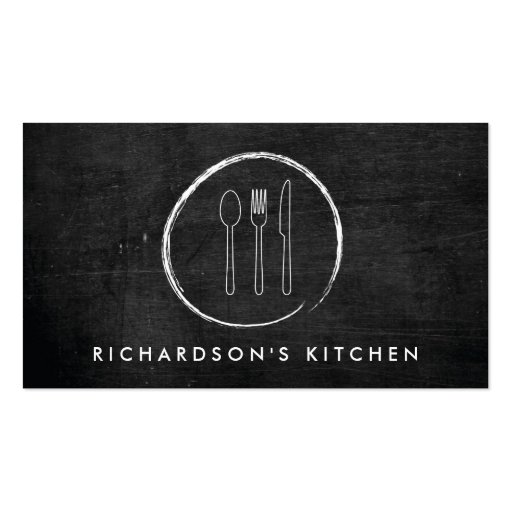 FORK SPOON KNIFE SKETCH LOGO for Catering, Chef... Business Card