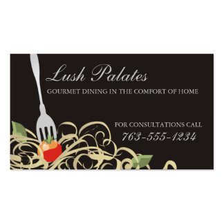 fork stuck tomato spaghetti catering b, Lush Pa... Pack Of Standard Business Cards