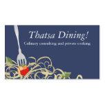 fork stuck tomato spaghetti catering b, Thatsa ... Business Card Template