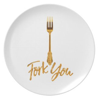 Fork You (Rude Kitchen Series) Plate