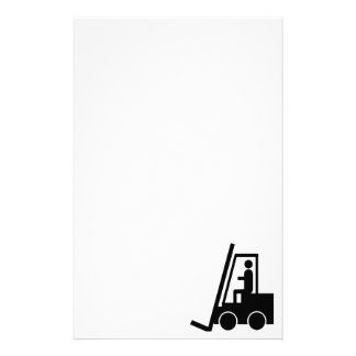 FORKLIFT CONSTRUCTION VECTOR GRAPHIC CUSTOMIZED STATIONERY
