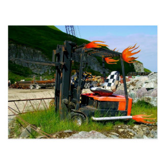 Forklift Hotrod, Dutch Harbor, Alaska Postcard