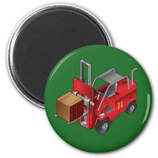 Forklift, Kids Pallet Truck Design 6 Cm Round Magnet