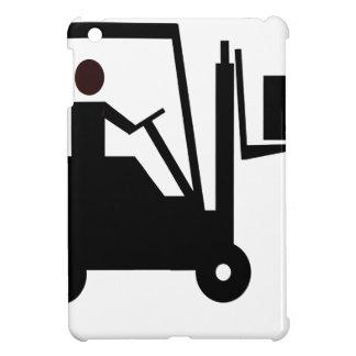 Forklift Silhouette iPad Mini Cover