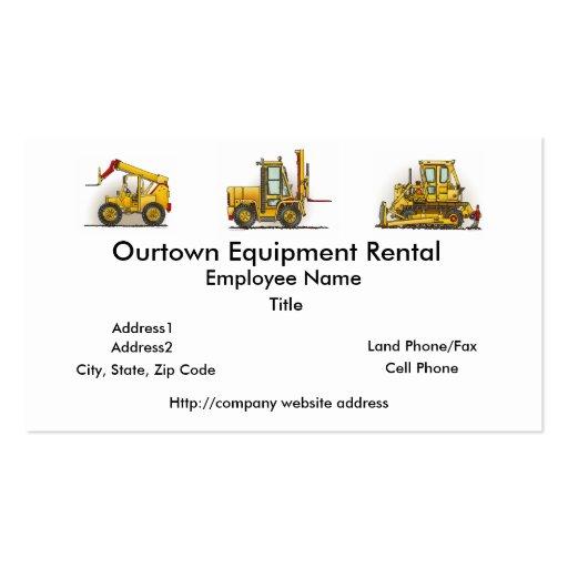 Forklift Truck Business Cards