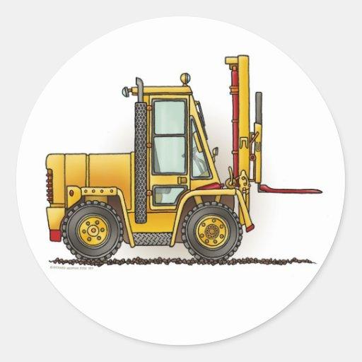 Forklift Truck Kids Sticker