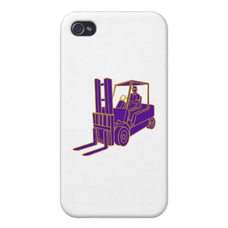 Forklift Truck Mono Line iPhone 4/4S Cover