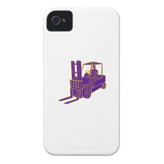 Forklift Truck Mono Line iPhone 4 Case