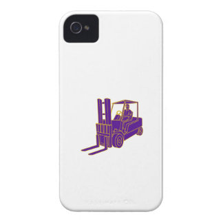 Forklift Truck Mono Line iPhone 4 Case-Mate Cases