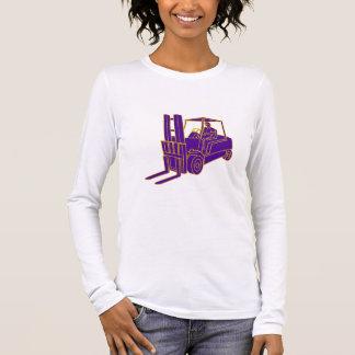 Forklift Truck Mono Line Long Sleeve T-Shirt