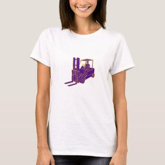 Forklift Truck Mono Line T-Shirt