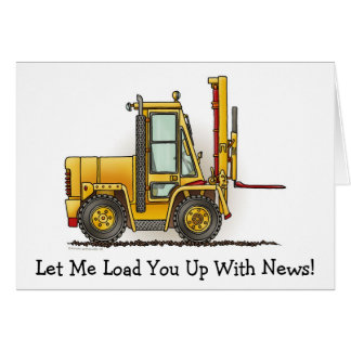 Forklift Truck Note Card