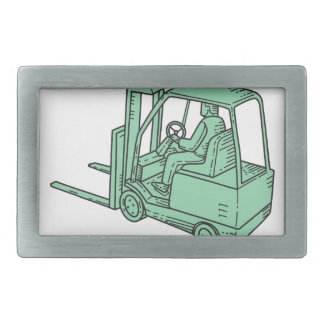 Forklift Truck Operator Mono Line Belt Buckles