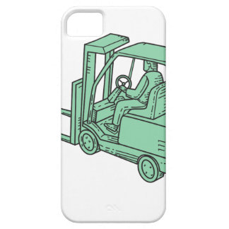 Forklift Truck Operator Mono Line Case For The iPhone 5