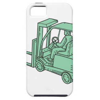 Forklift Truck Operator Mono Line iPhone 5 Cover