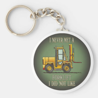 Forklift Truck Operator Quote Key Chain
