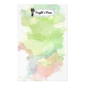 Forks watercolor chef catering cooking stationery