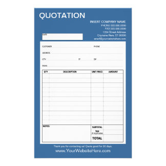 Form - Business Quotation or Invoice Flyers