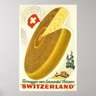 Formaggio vero Emmental Svizzero,Switzerland, Poster
