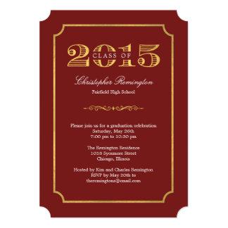 Formal Affair Editable Color Graduation Invitation