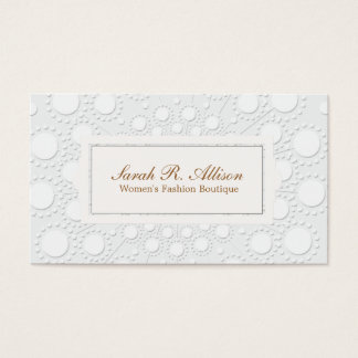 Formal and Chic Embossed Look White and Gray Business Card