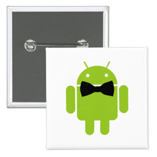 Formal Android Robot Icon Graphic 15 Cm Square Badge