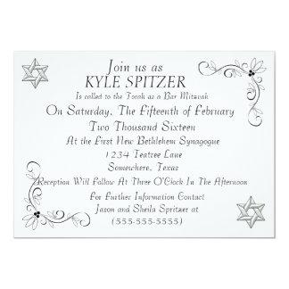 Formal Bar Mitzvah Invitation